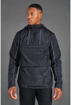 Black MAN Active Reflective Over The Head Cagoule