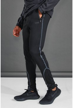 Black MAN Active Reflective Skinny Jogger
