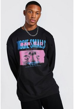 Black Oversized Biggie Smalls License Sweatshirt