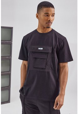 Black Utility Pocket T Shirt