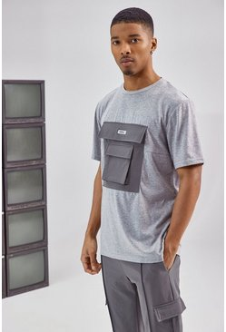 Charcoal grey Utility Pocket T Shirt