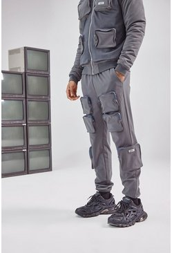 Charcoal grey 3D Pocket Cargo Pants
