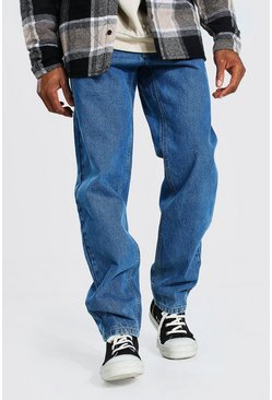 Relaxed Fit Rigid Jean, Mid blue bleu