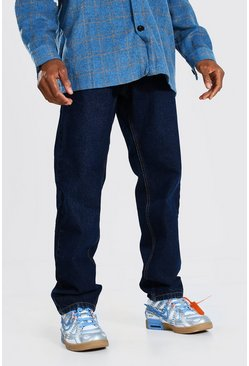 Dark blue blue Relaxed Fit Rigid Jean