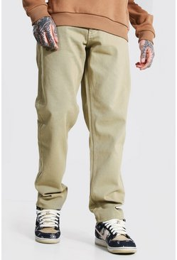 Stone beige Relaxed Fit Rigid Jean