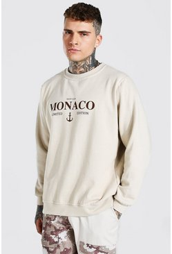 "Sweat oversize ""Monaco Limited Edition"", Sand beige"
