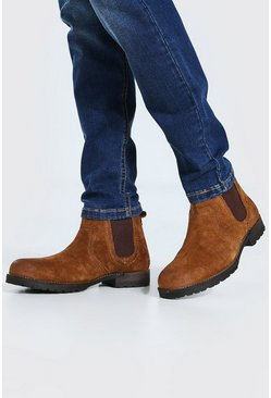 Tan Chunky Sole Boot
