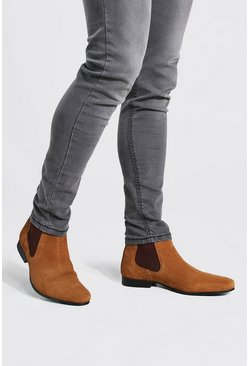 Tan brown Suede Chelsea Boot
