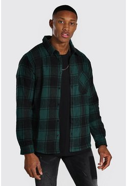 Khaki Long Sleeve Buffalo Brushed Check Shirt