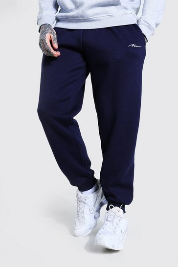 Navy MAN Signature Loose Fit Jogger