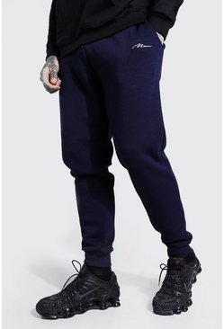 Navy MAN Signature Slim Fit Jogger