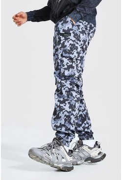 Dark grey grey Relaxed Fit Camo Twill Cargo Pants