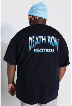 Grande taille - T-shirt officiel Death Row, Black noir