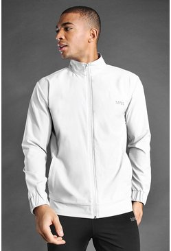 Grey MAN Active Funnel Neck Zip Through Jacket