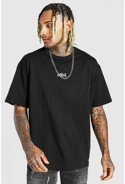 Black Official Oversized Embroidered T-Shirt