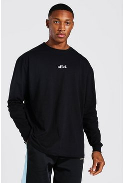 Black Official Oversized Long Sleeve T-Shirt