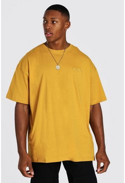 Mustard yellow Official MAN Oversized T-Shirt