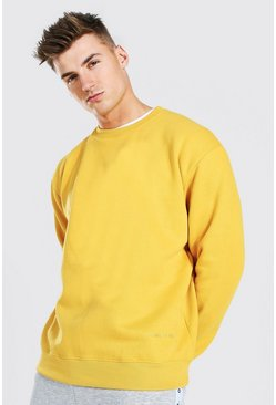 Sweat oversize - MAN Official, Moutarde jaune