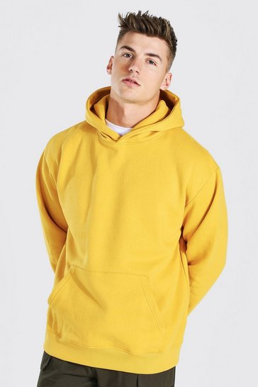 Mustard yellow Oversized Over The Head Hoodie