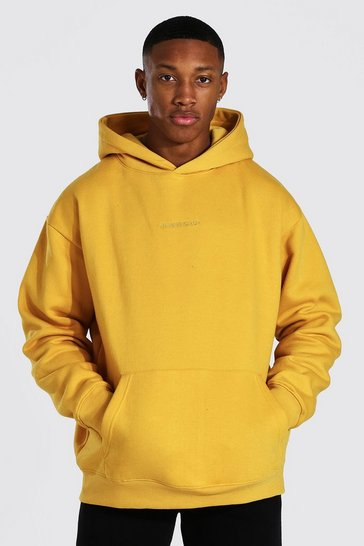 Mustard yellow Oversized MAN Official OTH Hoodie
