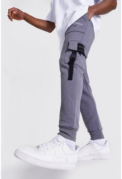 Charcoal grey Official Utility Skinny Cargo Joggers
