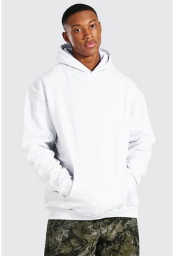 Ash grey Oversized Over The Head Hoodie
