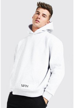 Ash grey Oversized Pocket Original MAN OTH Hoodie