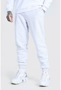 Ash grey Loose Fit Basic Joggers