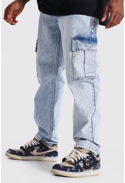 Ice blue Straight Leg Cargo Jean