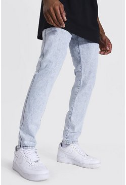 Relaxed Fit Back Zip Jean, Ice blue
