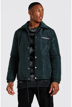 Green MAN Official Nylon Faux Fur Lined Coach Jacket