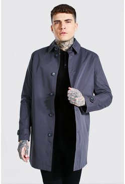 Charcoal grey Single Breasted Mac