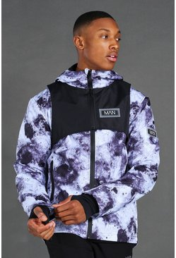Black MAN Active Tech Cagoule With Detachable Rig