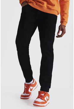 Relaxed Fit Back Zip Jean, Black negro