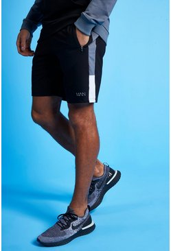Charcoal grey MAN Active Colour Block Striped Short
