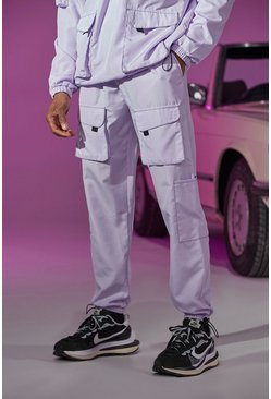 Lilac purple Official Tab Utility Pocket Cargo Jogger