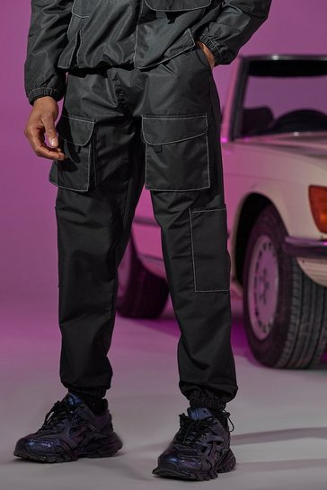 Black Official Tab Utility Pocket Cargo Jogger