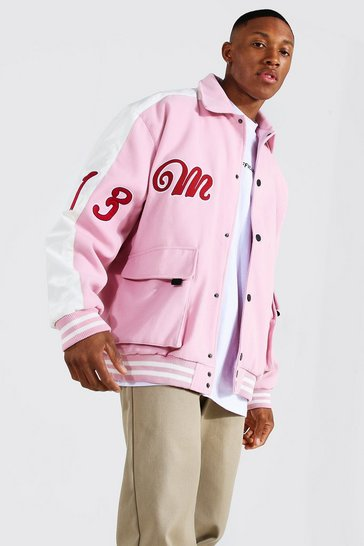 Pink Utility Varsity Harrington