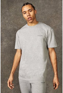 Grey marl grey Tall Official Collection Heavyweight T-shirt