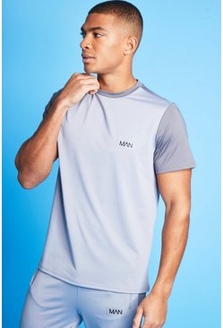 Grey Man Active Blocked T Shirt