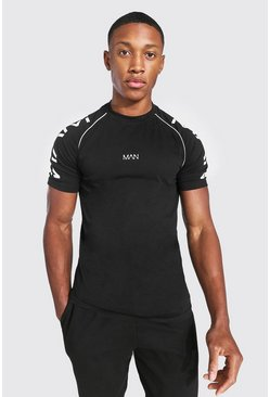 Black Original Man Muscle Fit T-shirt