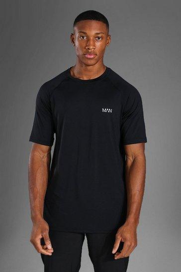 Black Man Active Raglan T-shirt