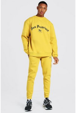 Yellow Oversized San Francisco Sweater Tracksuit