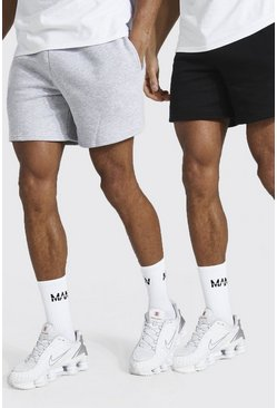2er-Pack Kurze Regular Fit Jersey-Short, Mehrfarbig