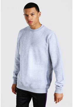Grey marl grey Tall Basic Sweater