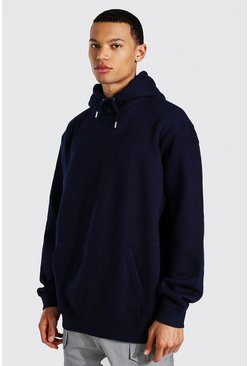Navy Tall Oversized Basic Hoodie