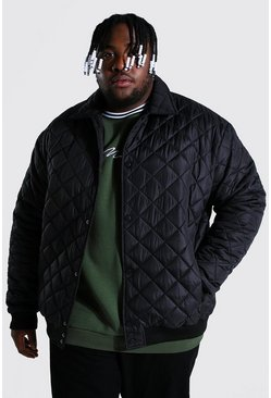 Black Plus Size Varsity Harrington
