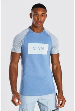 Blue Man Roman Muscle Fit Colour Block T-shirt