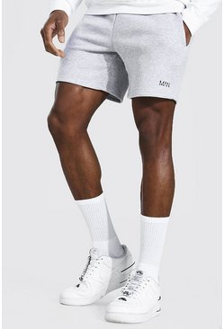 Short slim court en jersey - MAN, Grey marl gris