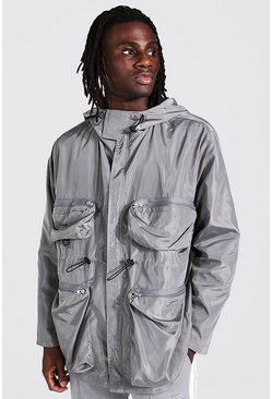 Grey Multi Pocket Cagoule